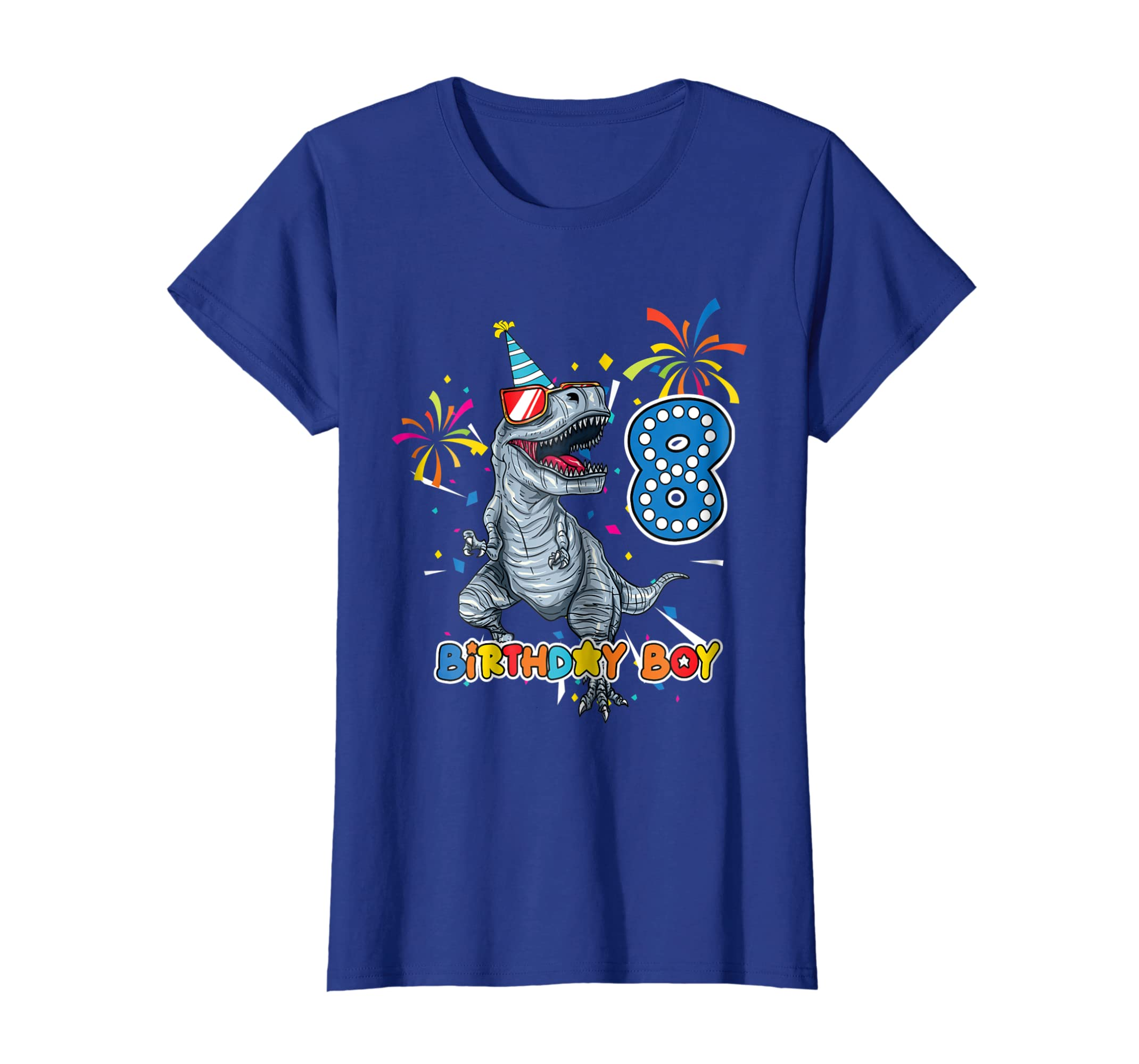 Amazon Its My 8TH Birthday Shirt Dinosaur Party For 8 Year Old BOY Clothing