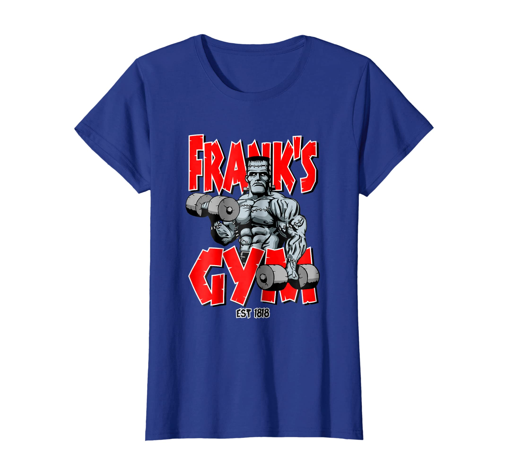 8a865be3a Amazon.com: Frankenstein Gym Funny Bodybuilding Fitness Workout T-shirt:  Clothing