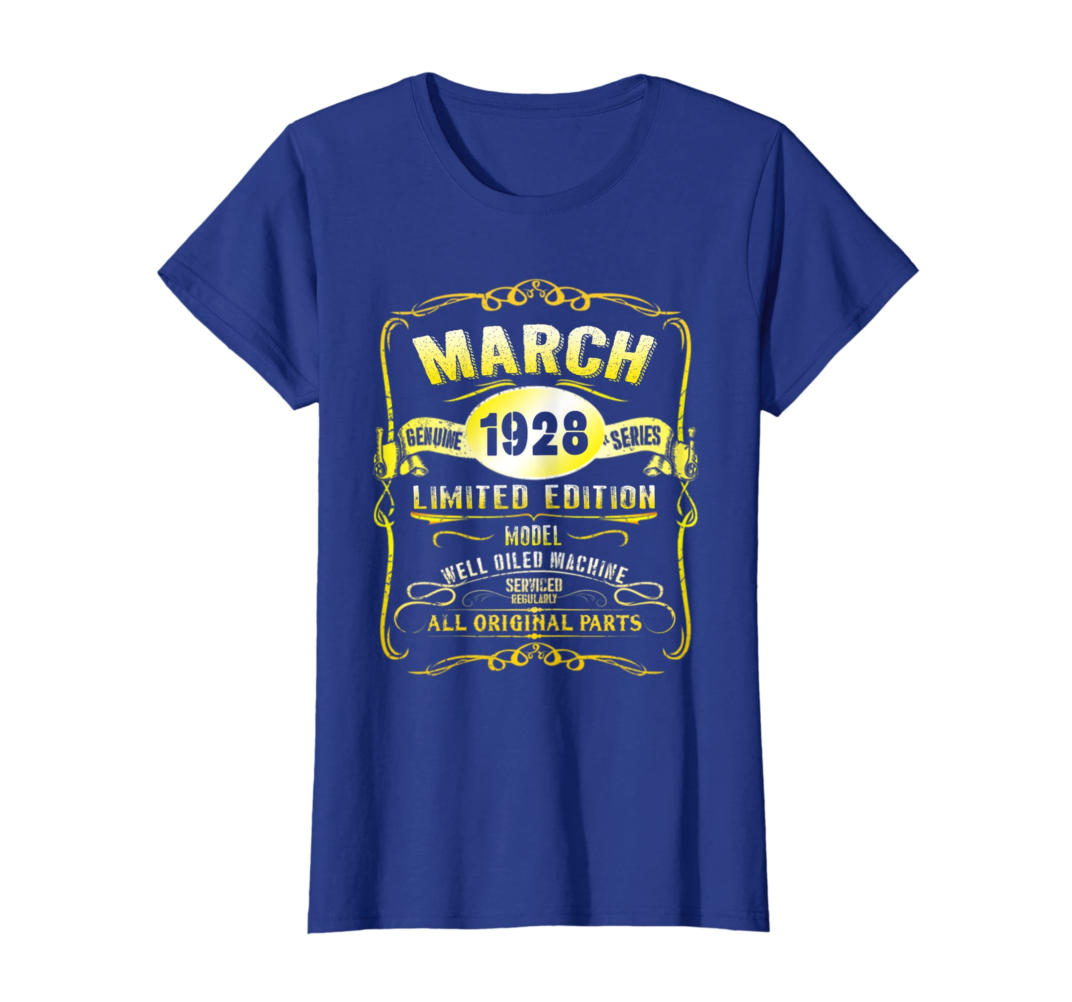 Amazon March 1928 91st Birthday Gift Of Men Women 91 Year Old Tee Clothing