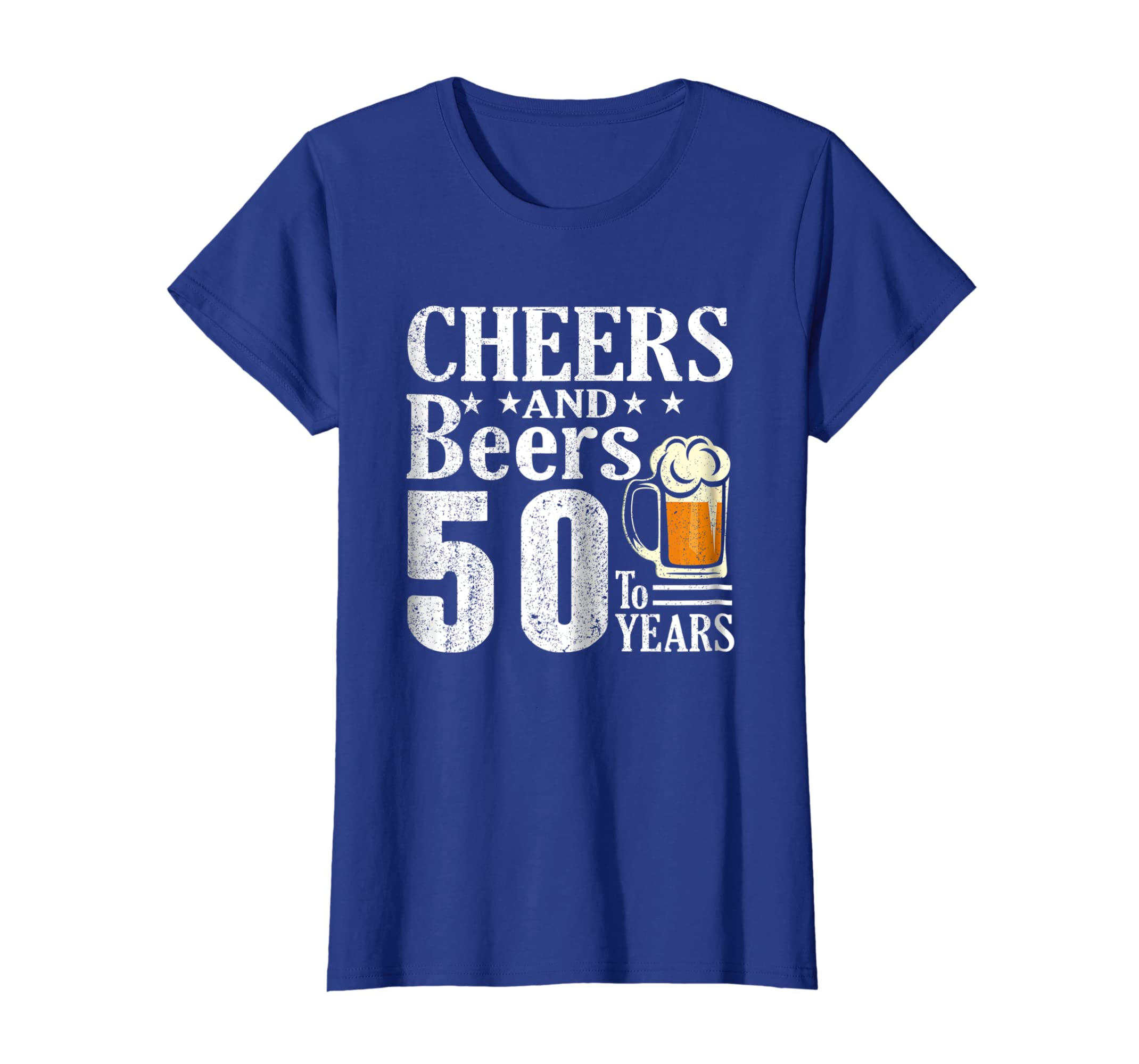 Amazon Cheers And Beers 50 Years Old 50th Birthday Gift 1968 Shirt Clothing