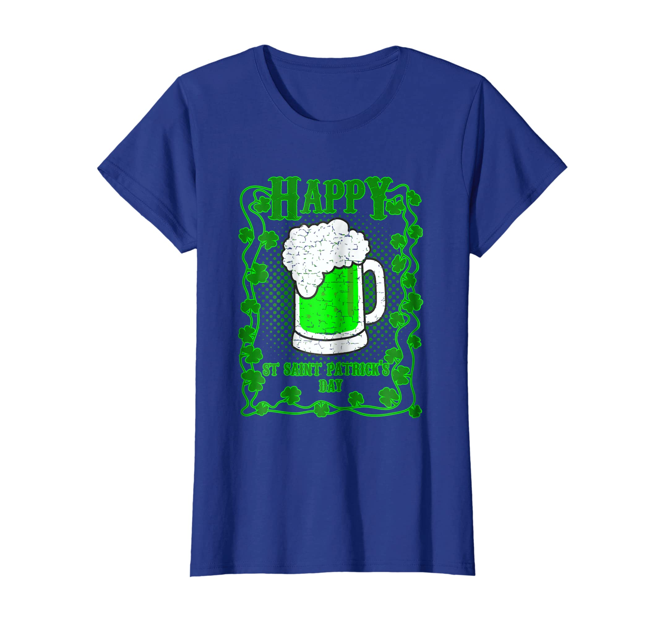Amazoncom Happy Saint Patrick Day Beer Mug Graphics Tee Clothing