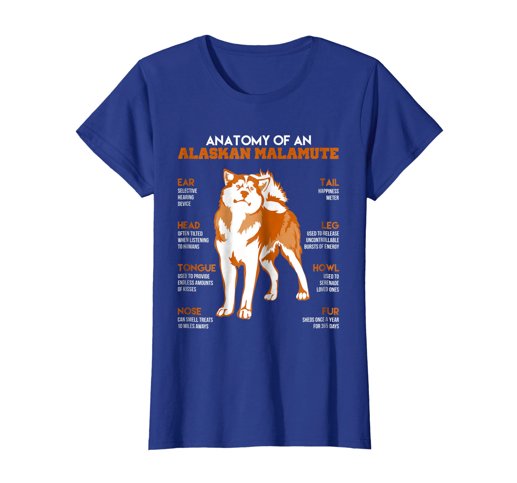 Amazon Anatomy Of An Alaskan Malamute Dogs T Shirt Funny Gift