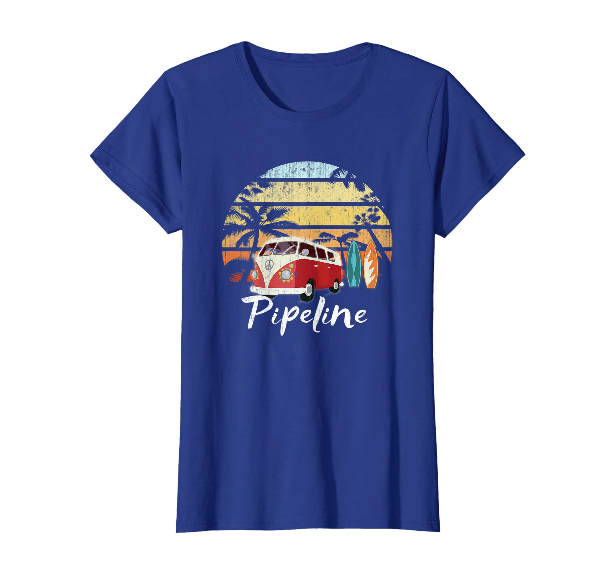 0b3c71cf Amazon.com: Cool Retro Banzai Pipeline Surf Beach Vintage Hawaii 70s Tee:  Clothing
