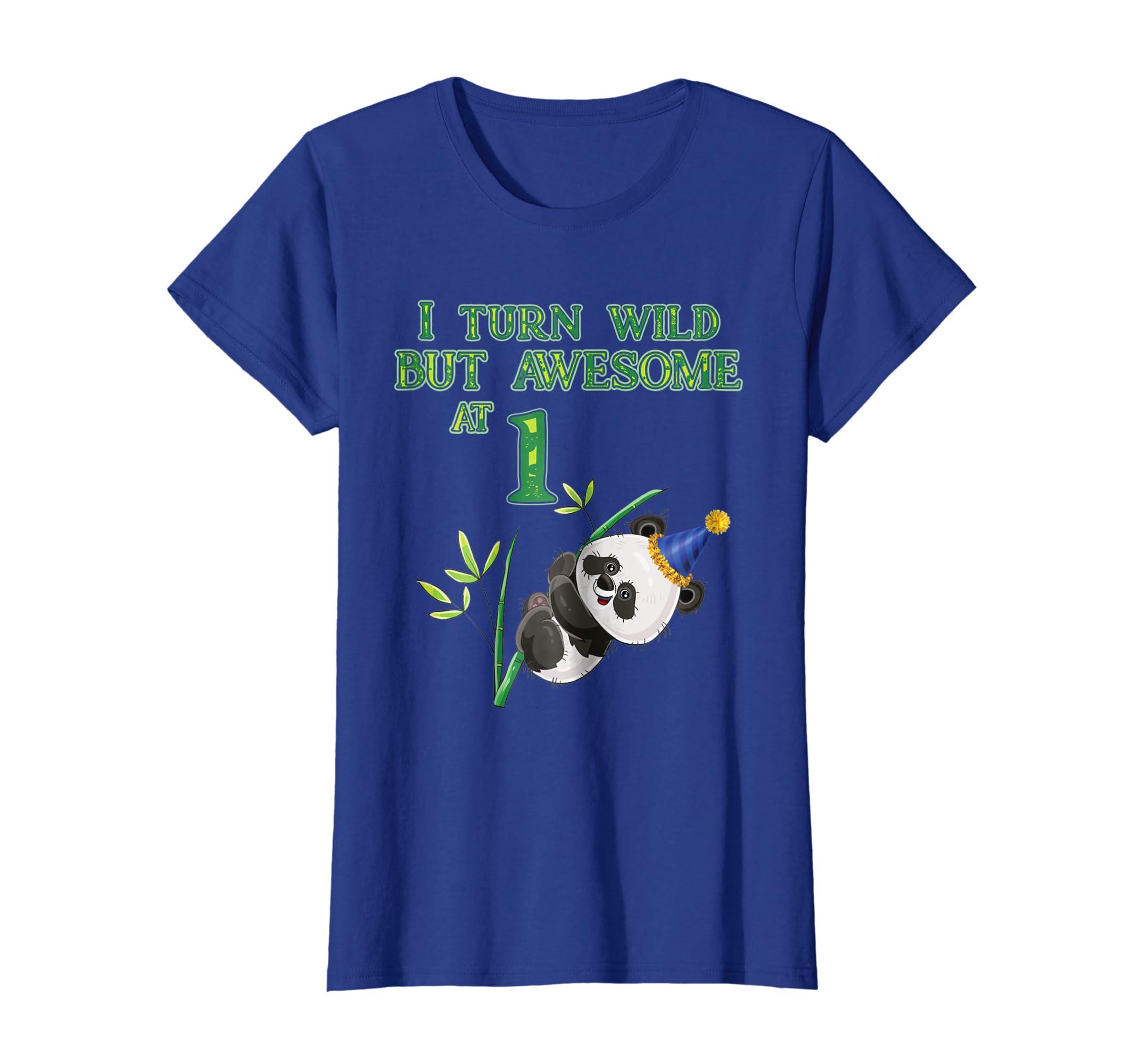 Amazon 1st Birthday Panda T Shirt Turn 1 Awesome Bday Boy Gift Tee Clothing