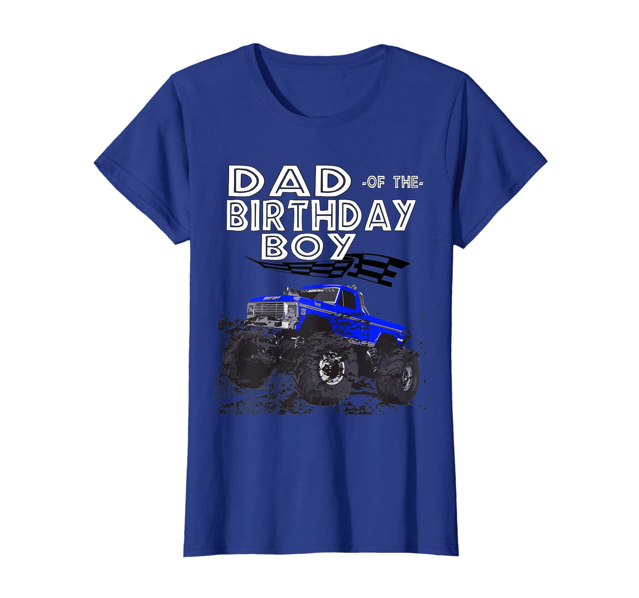 4a49a45f Amazon.com: Birthday Boy Racing Car Truck Costume Dad T shirt Flag Tee:  Clothing
