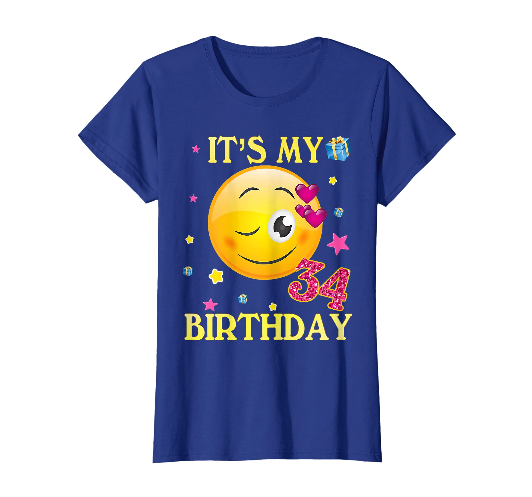 Amazon Its My 34th Birthday Shirt 34 Years Old Gift For Women Clothing