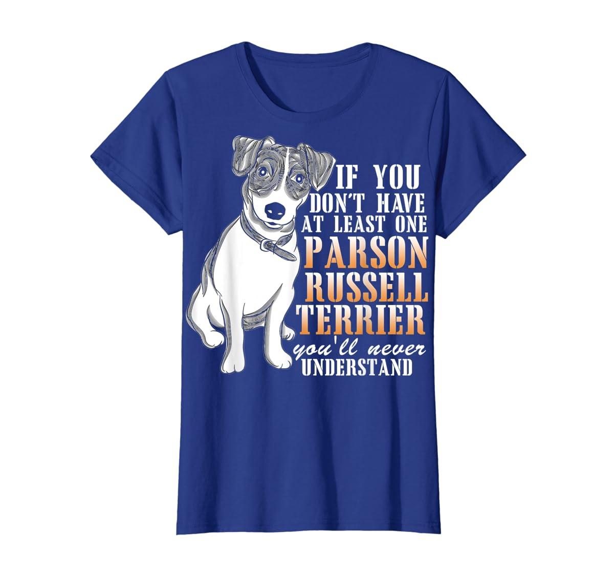 Parson Russell Terrier T Shirt, I Love My Dog T Shirt-Women's T-Shirt-Royal