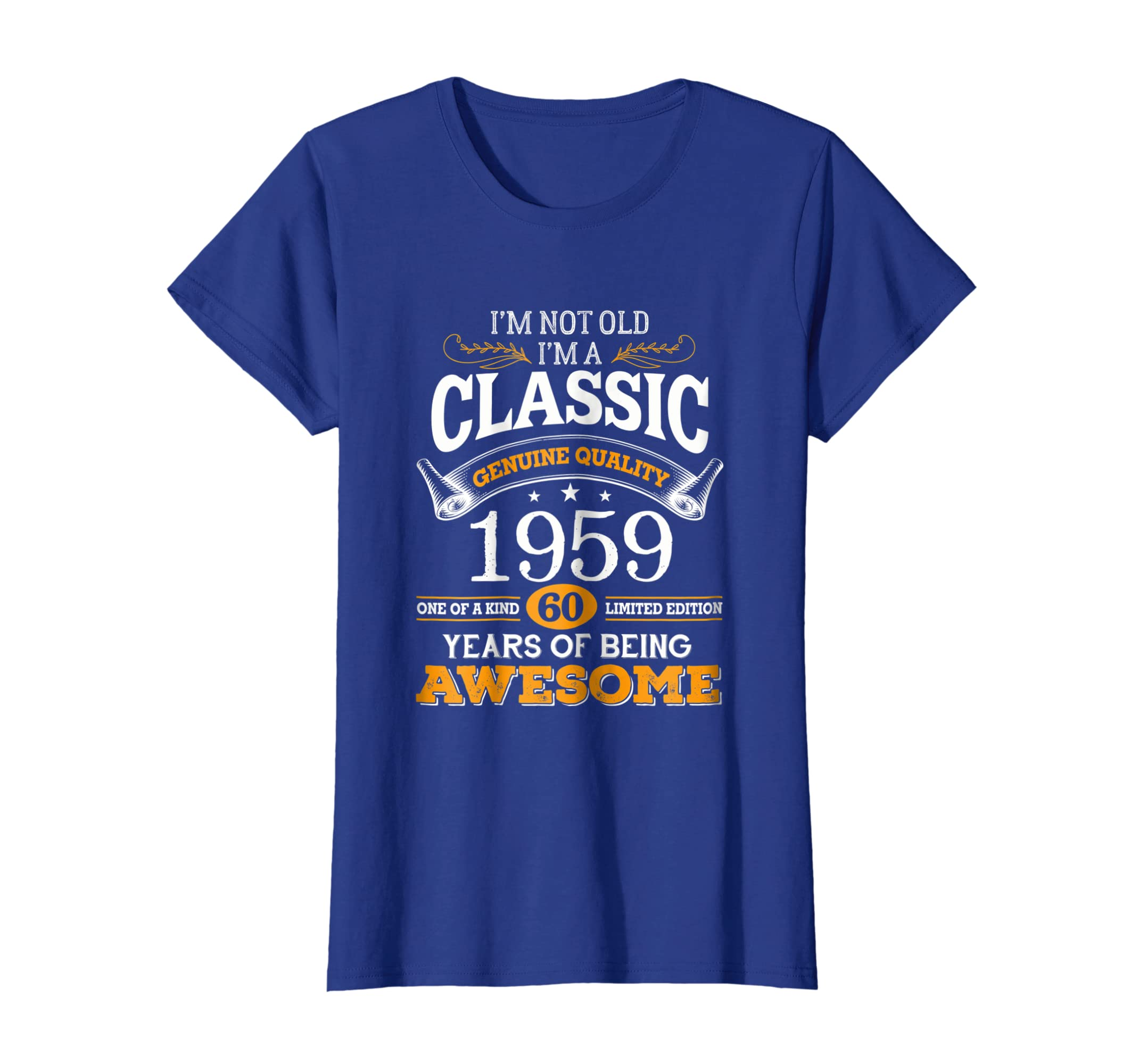 2748986c Amazon.com: Classic Funny 1959 60th Birthday T-shirts Years Of Awesome:  Clothing
