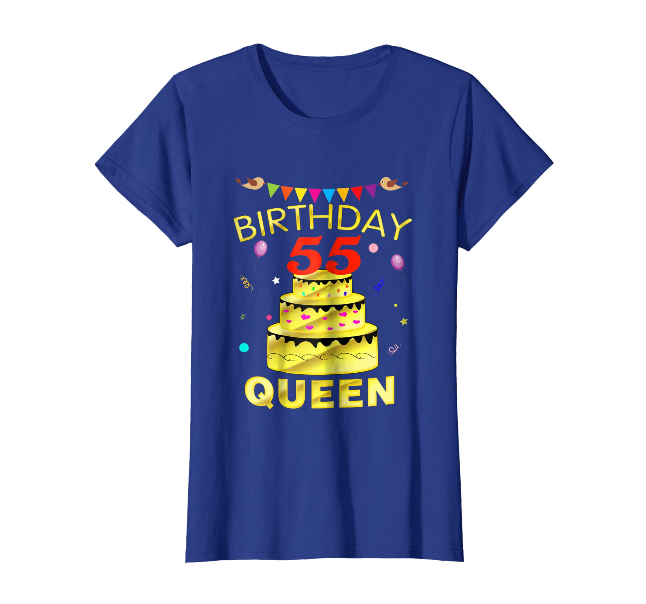 Amazon 55 Years Old 55th Golden Birthday Queen Decorations Shirt Clothing