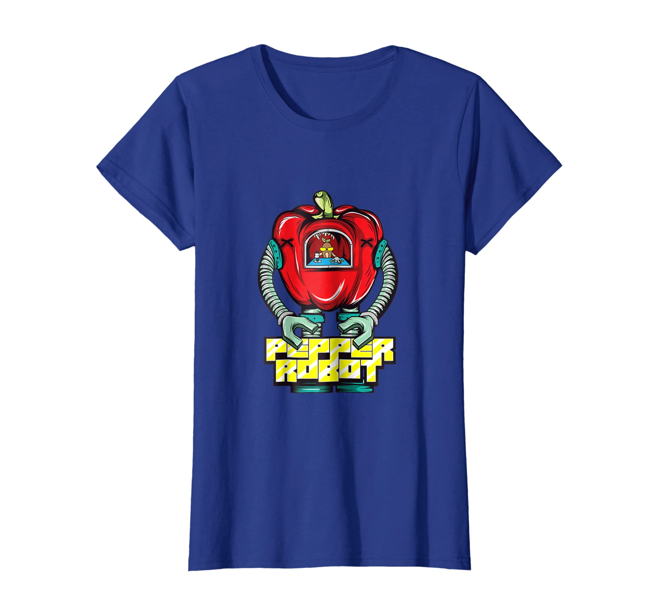 c178b180e7 Amazon.com: Funny Pepper Robot Gardening Vegetable Gardener T-Shirt Gift:  Clothing