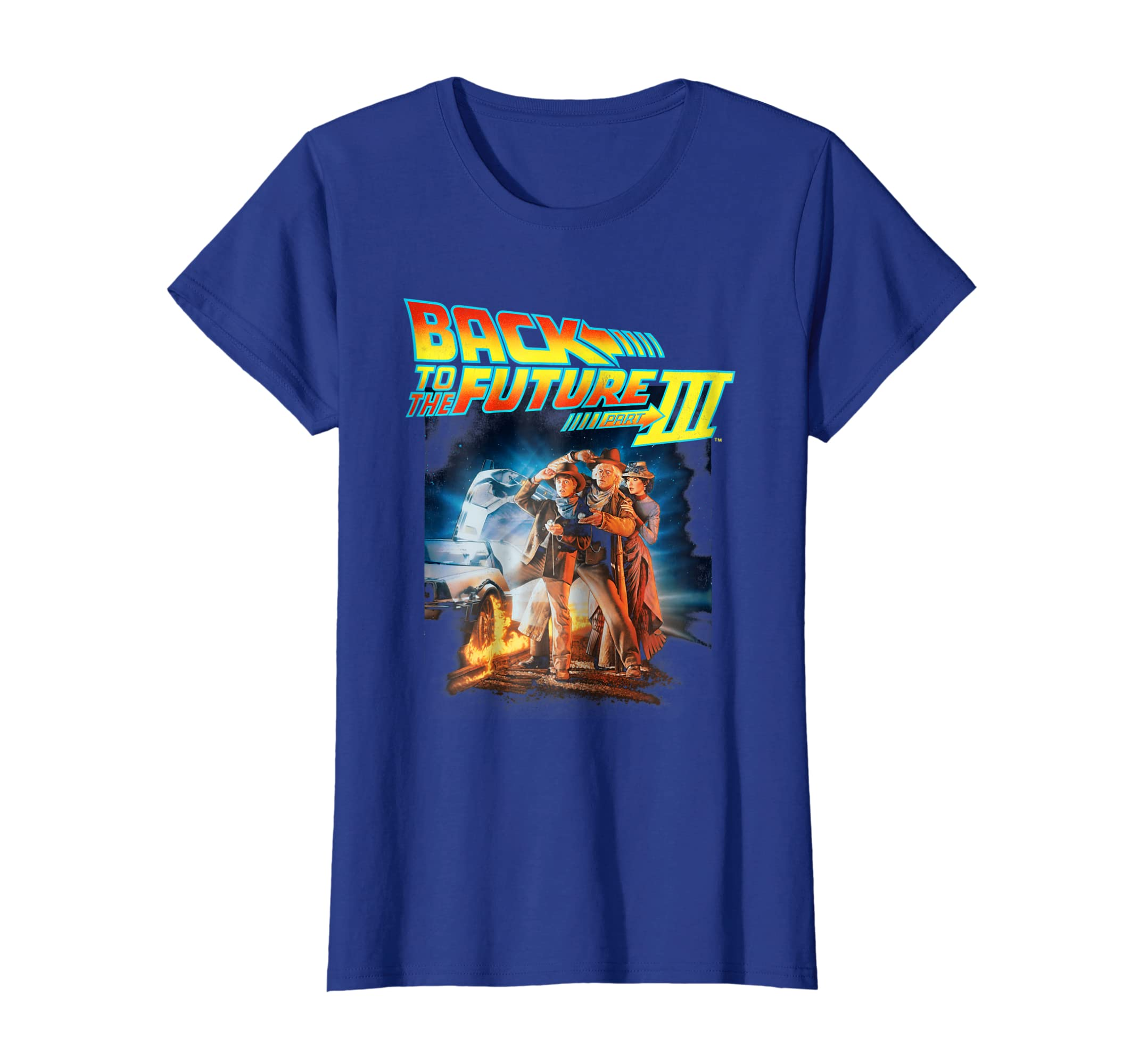4fe503a95 Amazon.com: Back To the Future Three Movie Poster Graphic T-Shirt: Clothing