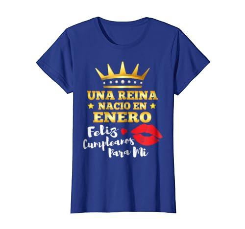 Amazon.com: Una Reina Nacio en Enero Cumpleanos Camisa Gift T-Shirt: Clothing