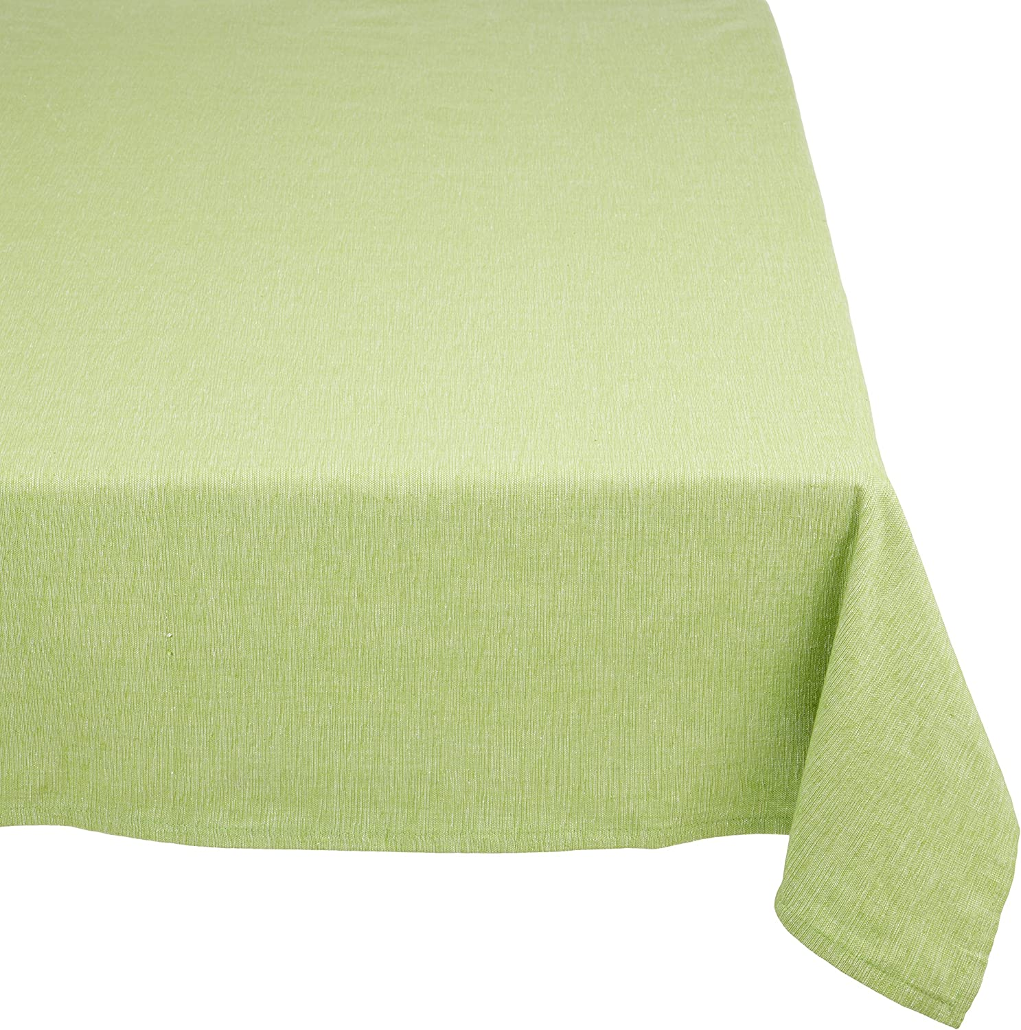 Mahogany T06T120GR Rectangle Tuscany Tablecloth, 60 by 120-Inch, Green