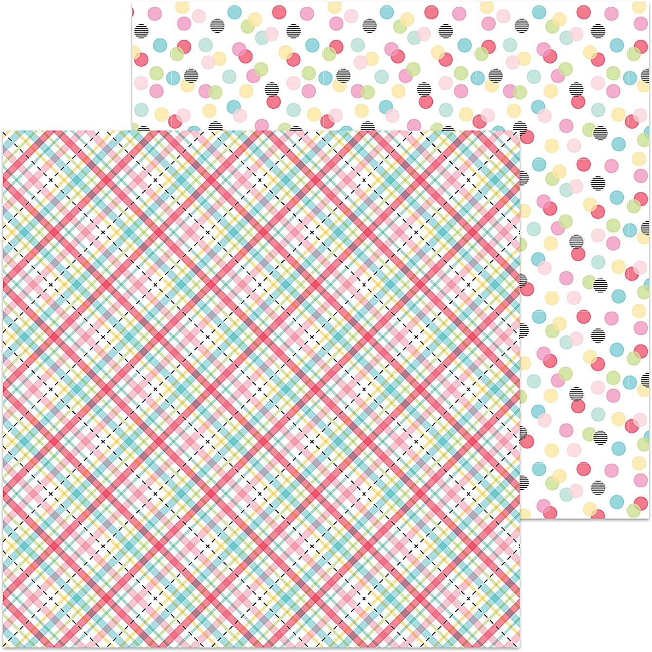 DOODLEBUG Plaid About You So Punny Double-Sided Cardstock 12