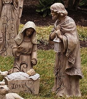 Mary, Joseph and Baby Jesus Large Nativity Trio Outdoor Statue
