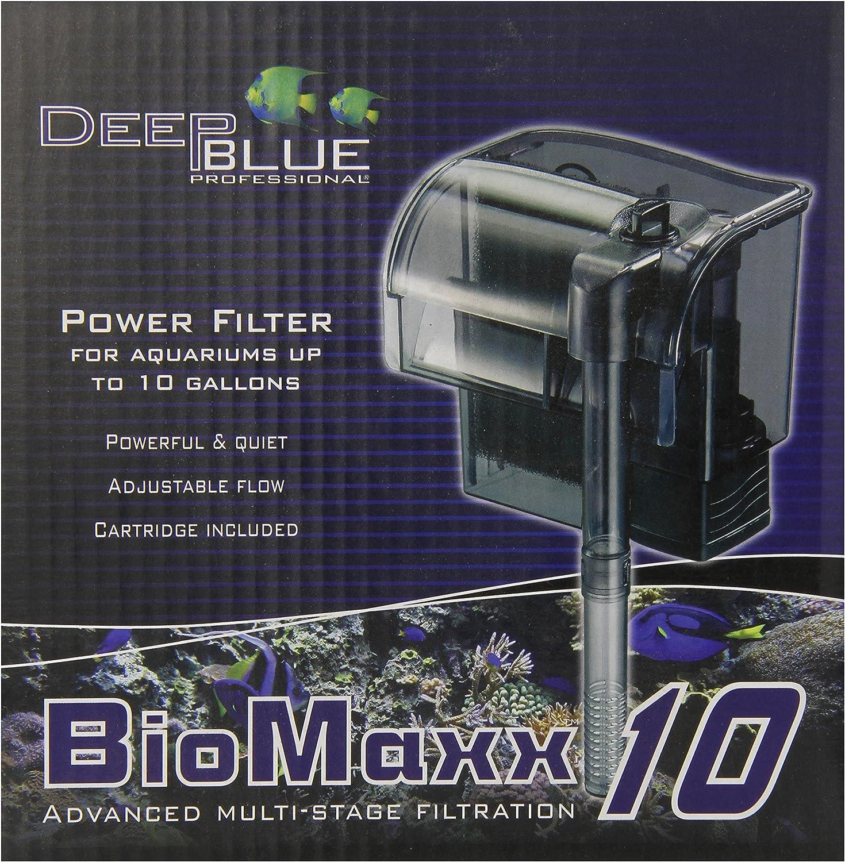 Deep bluee Professional ADB88701 Biomaxx Power Filter for Aquarium, 10Gallon