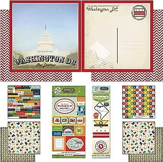 Scrapbook Customs Themed Paper and Stickers Scrapbook Kit, Washington D.C.