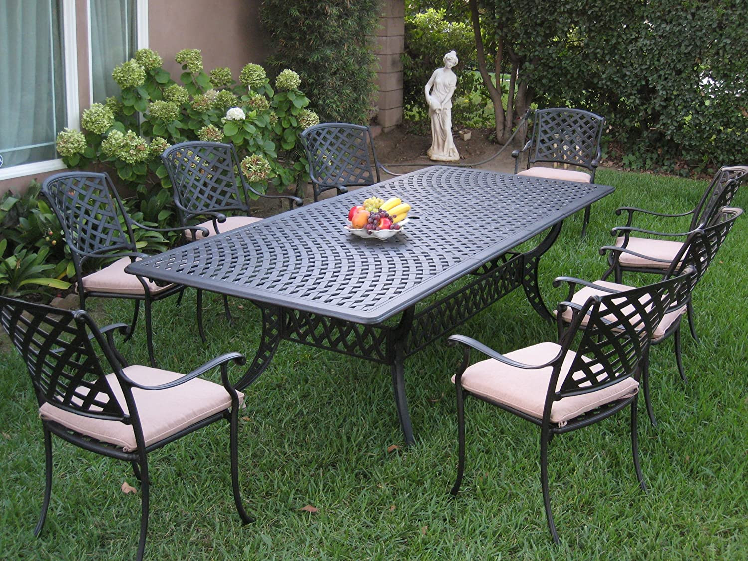 Best for Expansion Leaves: CBM Patio Kawaii Collection Dining Table Set.