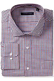 2a2a3d21 Tommy Hilfiger Men's Non Iron Regular Fit Check Spread Collar Dress Shirt