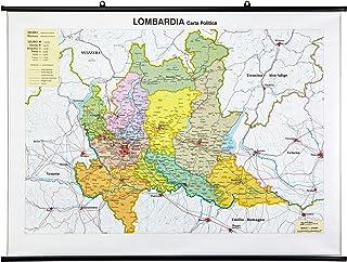 Province Lombardia Cartina.Amazon It Lombardia Cartina