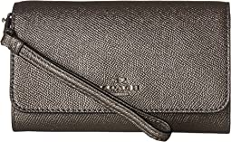 COACH - Box Program Metallic Phone Clutch