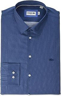 Lacoste Men's Long Sleeve Poplin French Collar Slim Fit City Woven Shirt