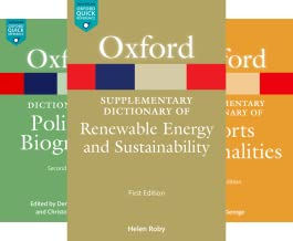 Oxford Quick Reference Online (39 Book Series)