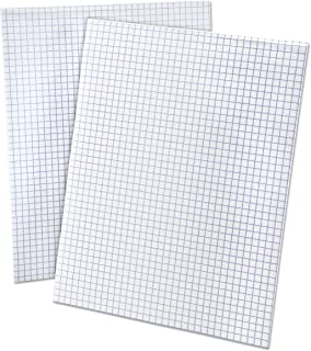 Ampad 8 1/2 x 11 Inches White Quad Pad, 4 Square Inch, 50 Sheets, 1 Each (22-030C)