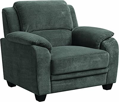 Coaster Home Furnishings Living Room Sofa Chair, Charcoal/Black