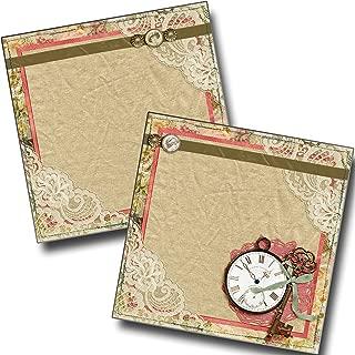 Vintage Lace NPM - Premade Scrapbook Pages - EZ Layout 4243