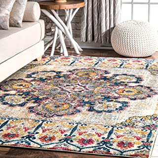 nuLOOM Festa Floral Majestic Area Rug, 8' x 10', Yellow