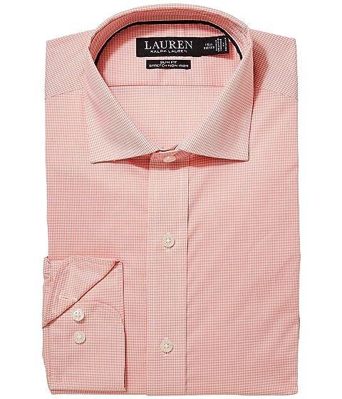 b1ad5171fb62 LAUREN Ralph Lauren Slim Fit No-Iron Cotton Dress Shirt at Zappos.com