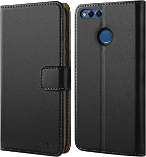 HOOMIL Case Compatible with Honor 7X, Premium Leather Flip Wallet Phone Case for Huawei Honor 7X and Huawei Mate SE Cover (Black)