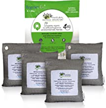 Regenerair 4 x 200g Air Purifying Bags 100% Activated Bamboo Charcoal Deodorizer Odor Eliminator for Kitchens Bedrooms Bathrooms Cars Basements Pet Areas & Shoes