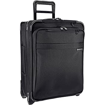 Briggs & Riley Baseline-Softside CX Expandable Wide-Body Upright Luggage, Black, Carry-On 21-Inch