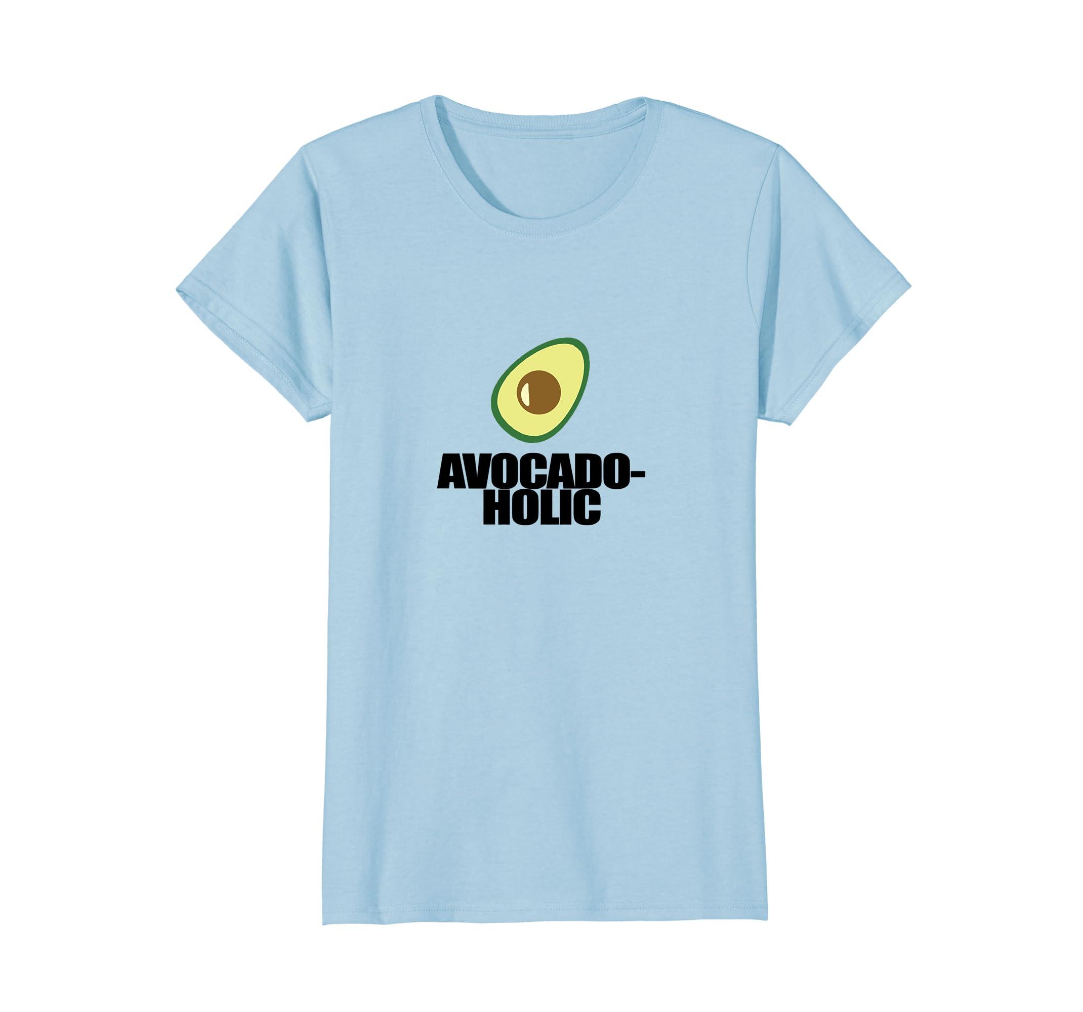 ccbfd74c Amazon.com: Avocado-Holic T-Shirt | Powered By Avocado Guac Humor Tee:  Clothing