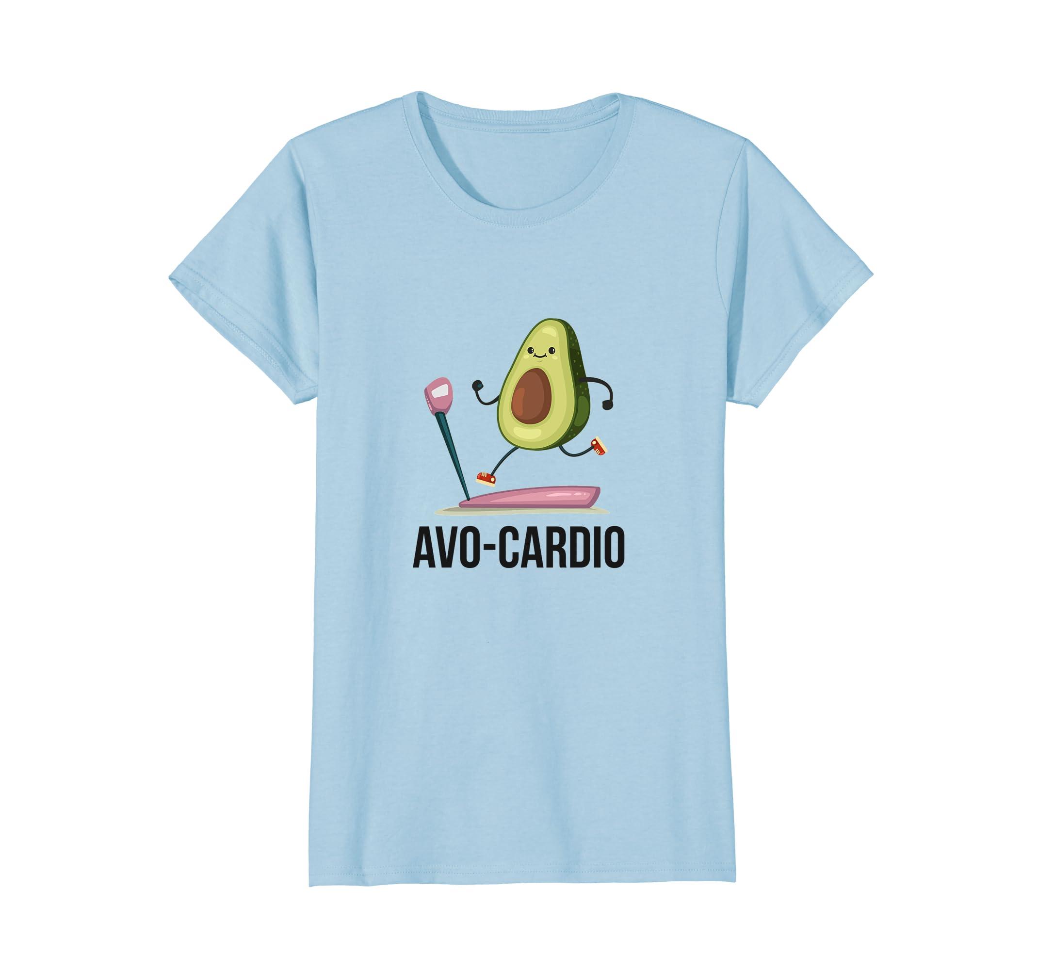 2dac6c1a70 Amazon.com: Avocado Treadmill Running Avo-Cardio Workout Fitness Shirt:  Clothing
