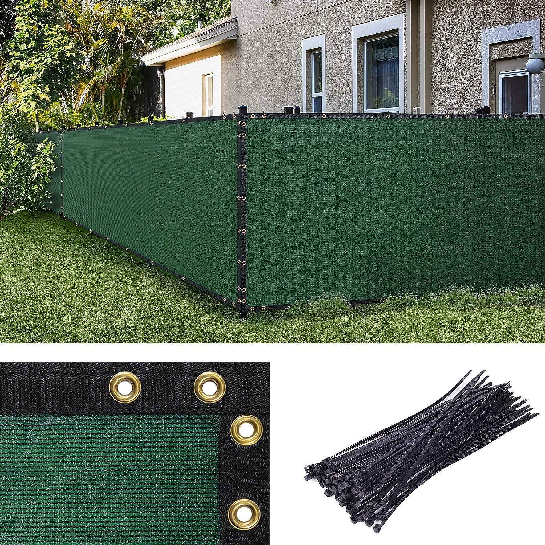 Amgo 全国どこでも送料無料 Custom Made 開催中 5' x 9' Green Screen w Windscreen Privacy Fence