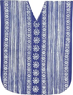 LA LEELA Donne Cotone Kaftan Tunica Batik Kimono Libero Formato Lungo Maxi Partito Caftano Vestito per Loungewear Vacanze ...