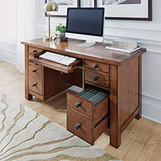 Tahoe Aged Maple Executive Pedestal Desk by Home Styles