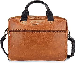 Urban Forest Taylor Leather 7 Ltrs Cognac Laptop Messenger Bag