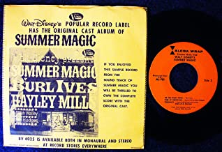 Burl Ives & Hayley Mills Sing Hits From Walt Disney's New Movie Summer Magic (Alcoa Wrap); w/ picture sleeve