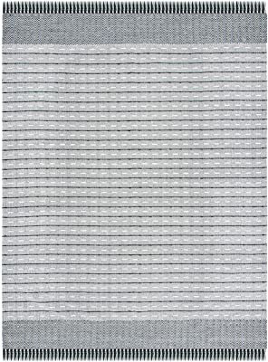 SAFAVIEH Vermont Collection VRM504A Flatweave Premium Wool Living Room Dining Bedroom Area Rug 8' x 10' Ivory/Black