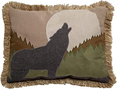 Amazon Com Mud Pie Must Love Dogs Hook Pillow Gray Home Kitchen