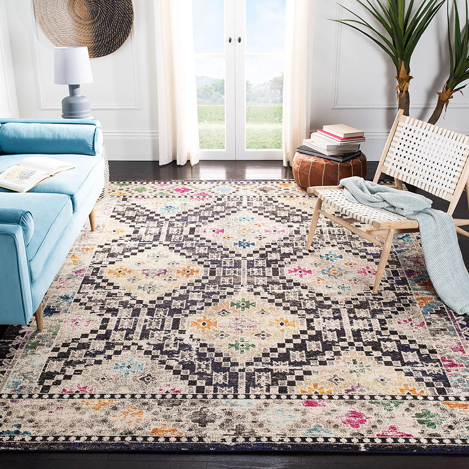 Safavieh Very popular Madison Collection MAD418Z Boho Free shipping / New Distressed Diamond Non-