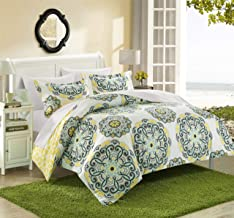 Chic Home Ibiza 2 Piece Duvet Cover Set Bedding with Decorative Shams, Twin, YELLOW