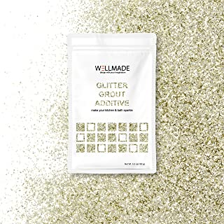 Glitter Grout Tile Additive 150g/5.3oz Glitter for Wall/Floor Tile Grout-DIY Home Wet Room Bathroom Kitchen Sparkle, Add/Mix with Epoxy Resin or Cement Based Grout (10g/0.35oz, Champagne Gold) Sample