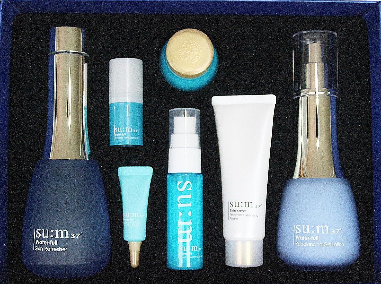 破滅急いでジェスチャーLG Su:m 37 Water-full 2-Piece Special Limited Gift Set 2016 New Version (Skin, Lotion)