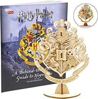 Harry Potter Hogwarts Crest Book and 3D Wood Model Figure Kit - Build, Paint and Collect Your Own Wooden Toy Model - Great for Kids and Adults, 8+ - 4