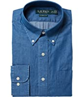 LAUREN Ralph Lauren Classic Fit Indigo Cotton Dress Shirt